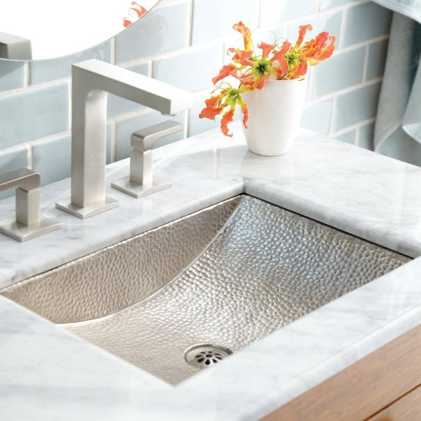 White Carrara Marble Bathroom Sink